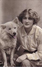 Woman&dog